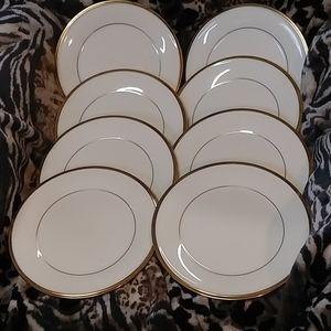 Set of 8 Lenox salad plates